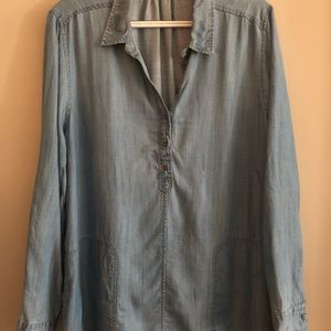 Lou & Grey chambray tunic with pockets